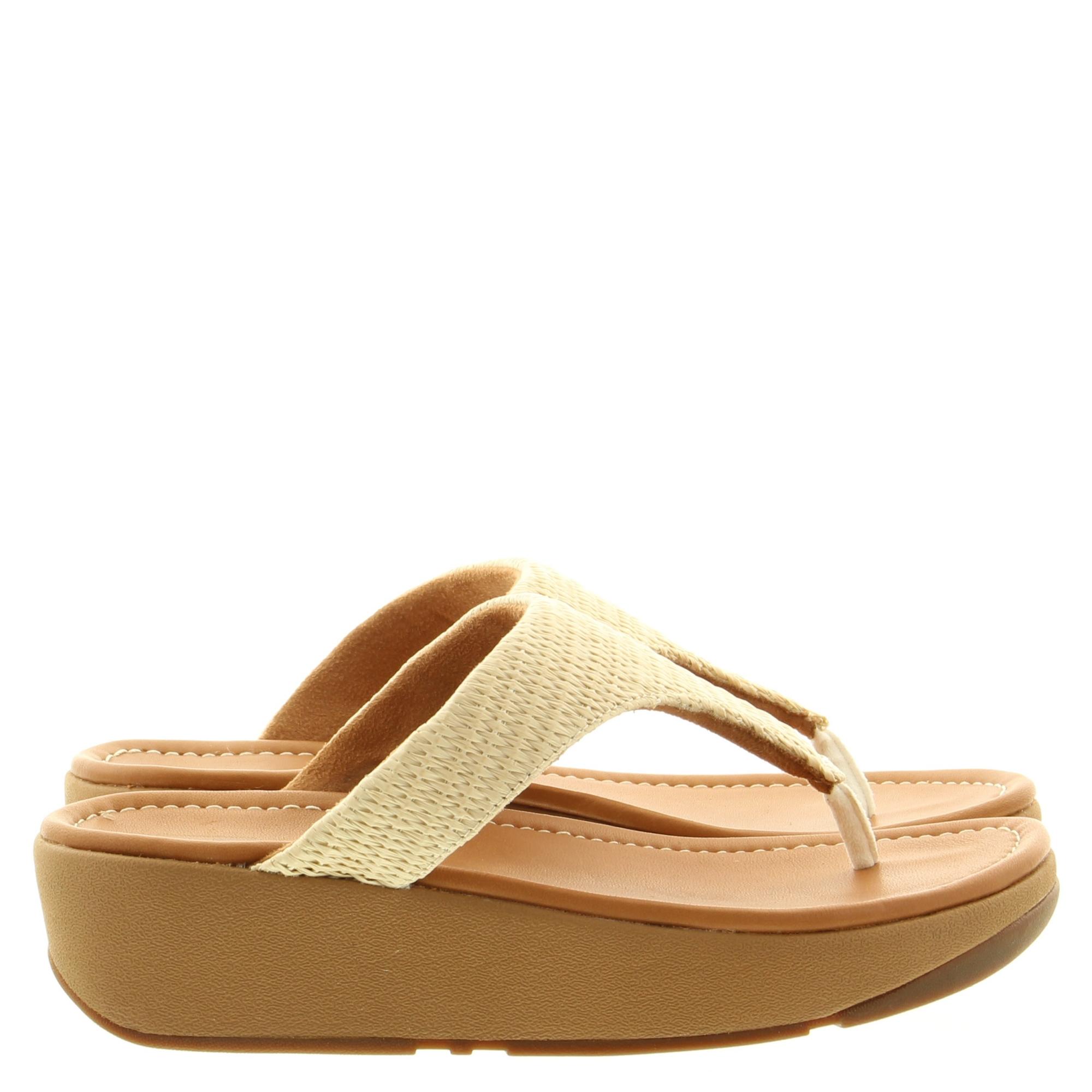 Fitflop BD3 Imogen Basket Weave Toe-Thongs 031 Stone