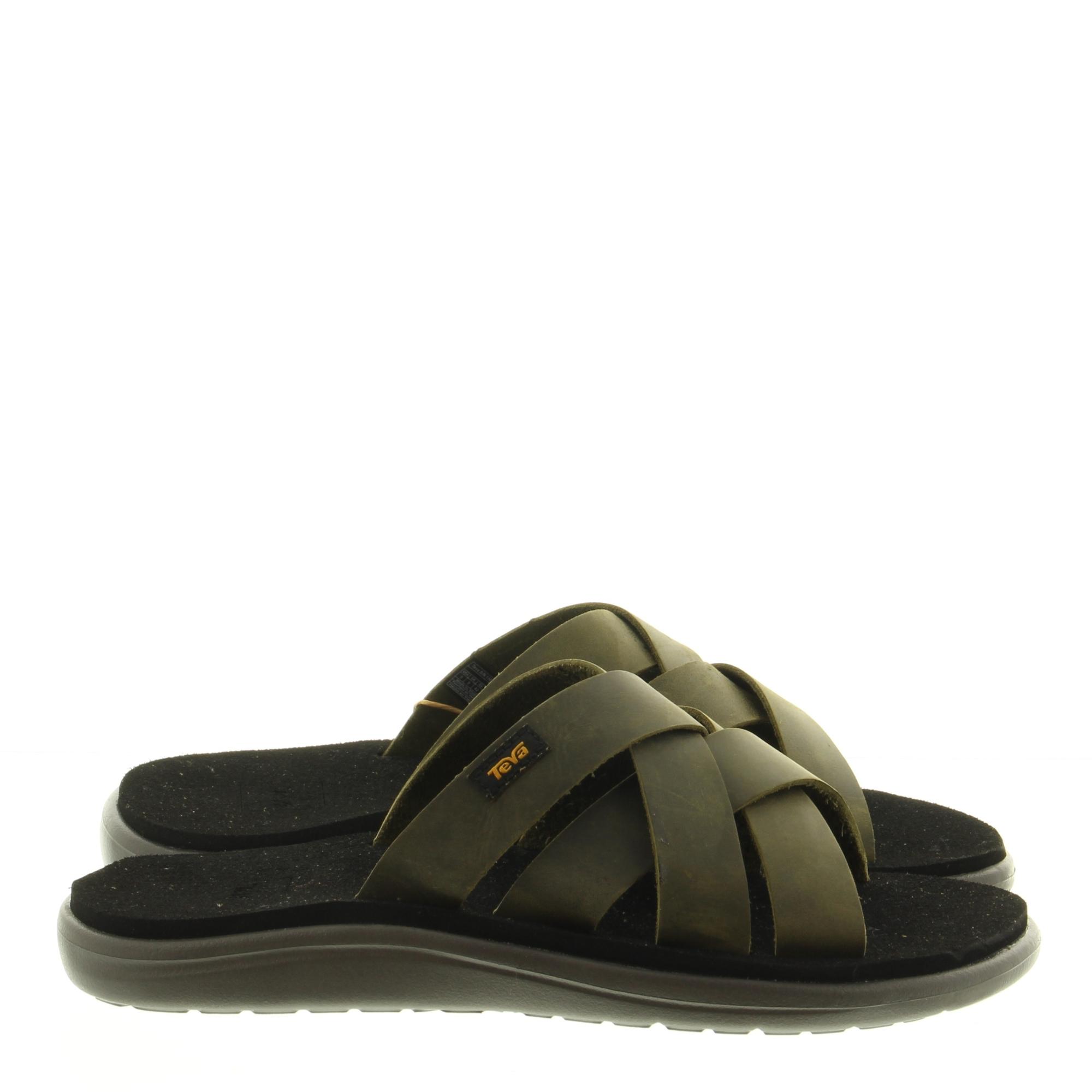 Teva 1102515 Voya Slide Leather DOL Dark Olive