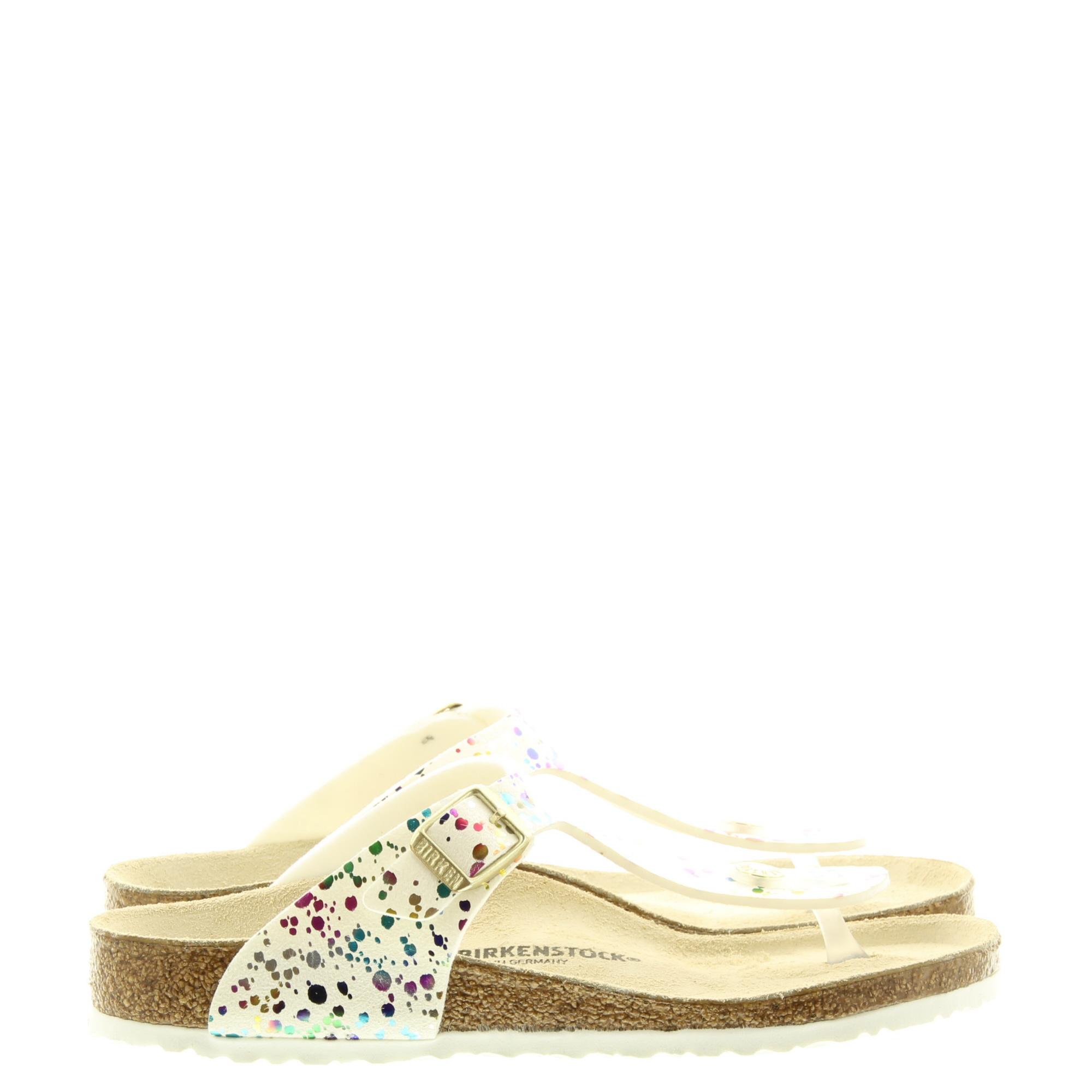 Birkenstock 1019755 Gizeh Kids Confetti White Pop