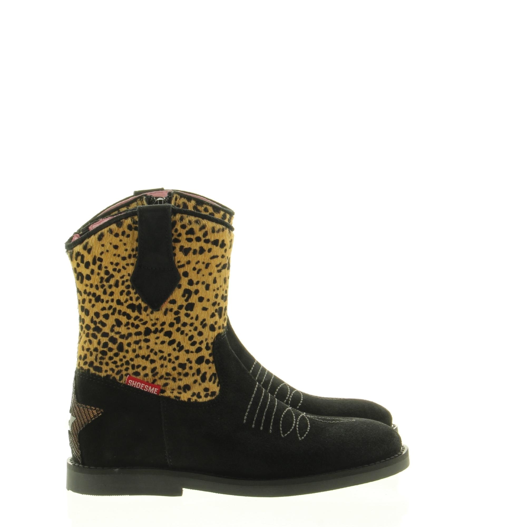 ShoesMe SI20W059-B Silhouet Black Brown Leopard