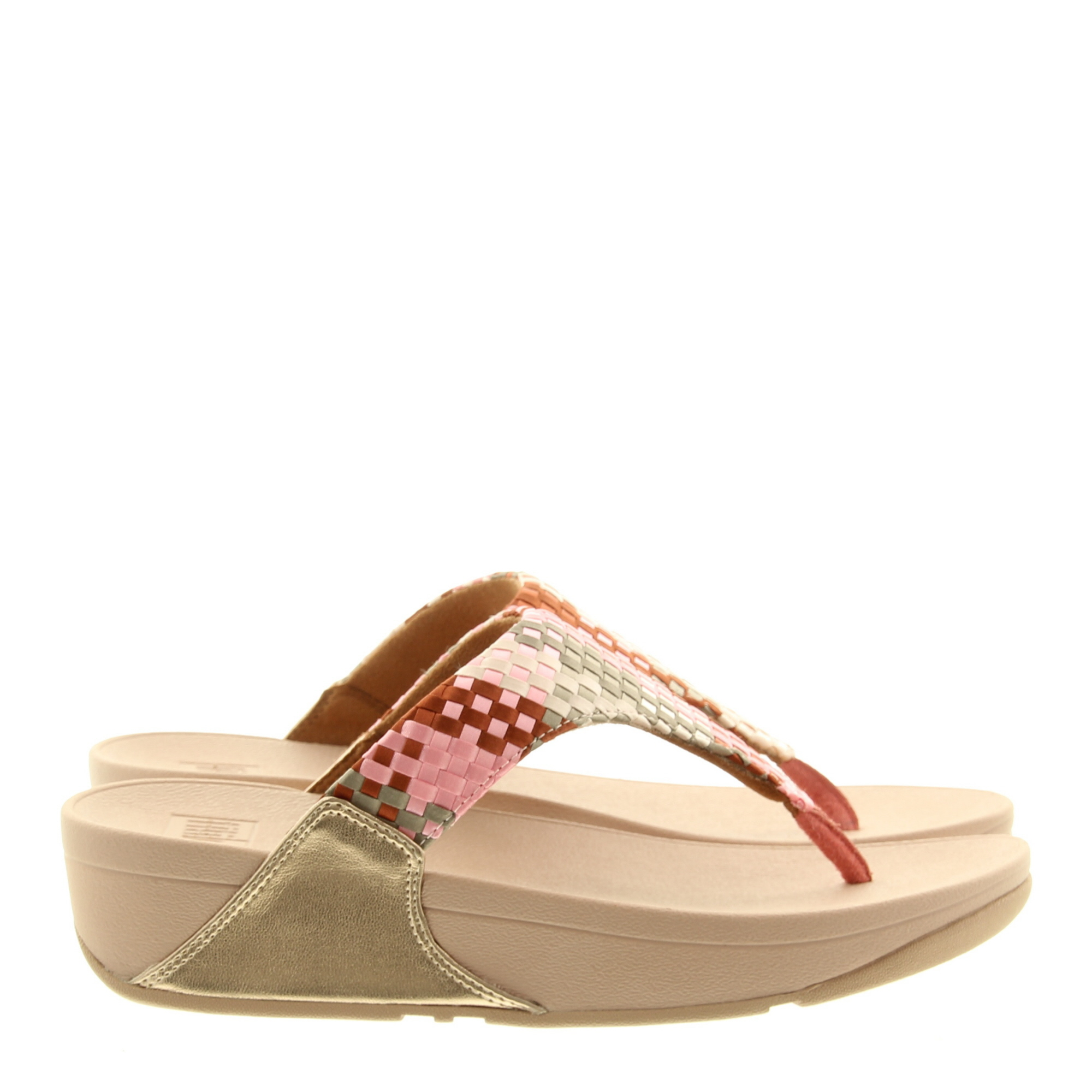Fitflop Lulu Silky Weave Toe-Post 807 Coral Pink