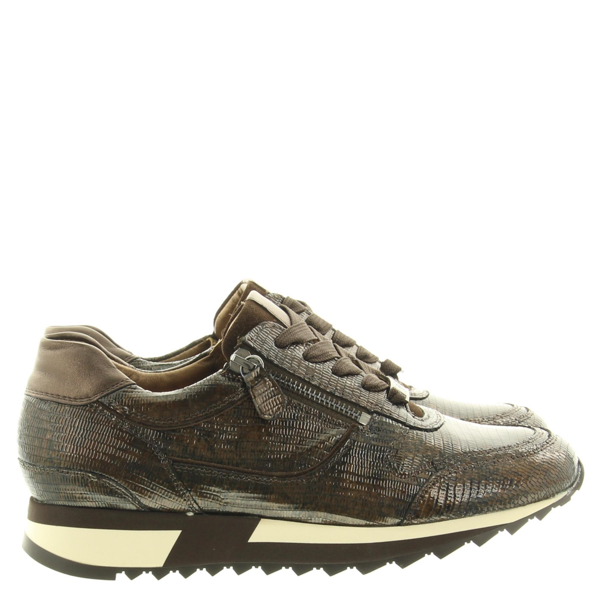 Hassia Shoes 302027 Barcelona 1986  Dark Brown Crocolack