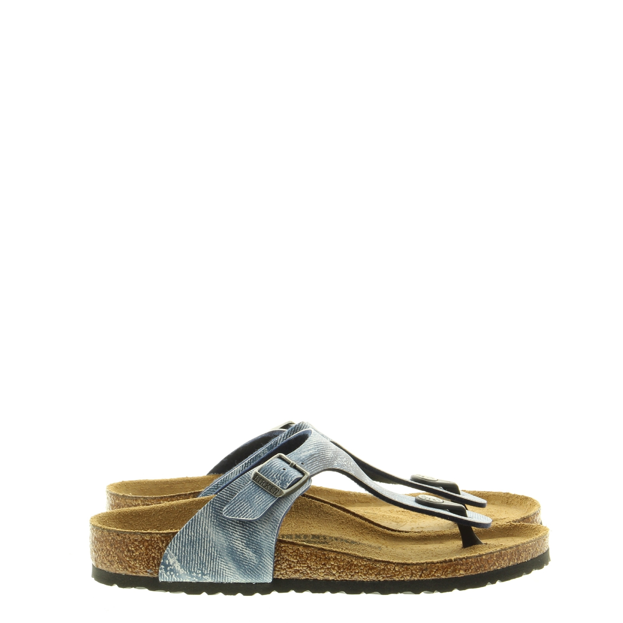 Birkenstock 1014891 Gizeh Used Jeans Blue
