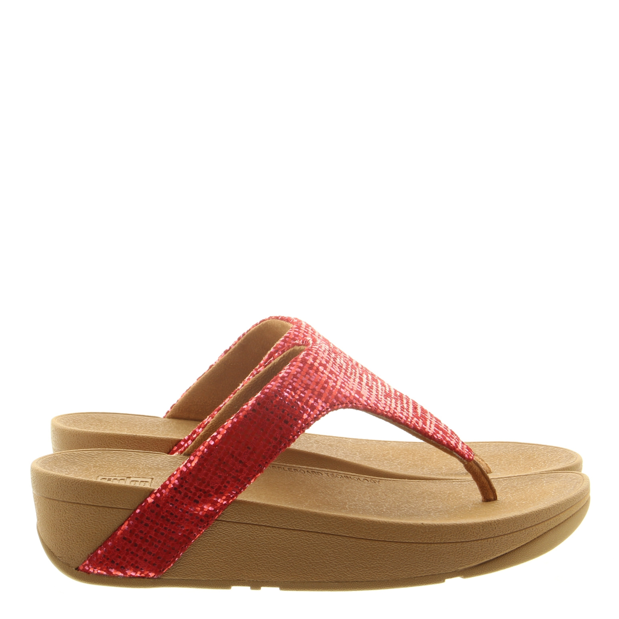 Fitflop Lottie Chain Print Toe Post red