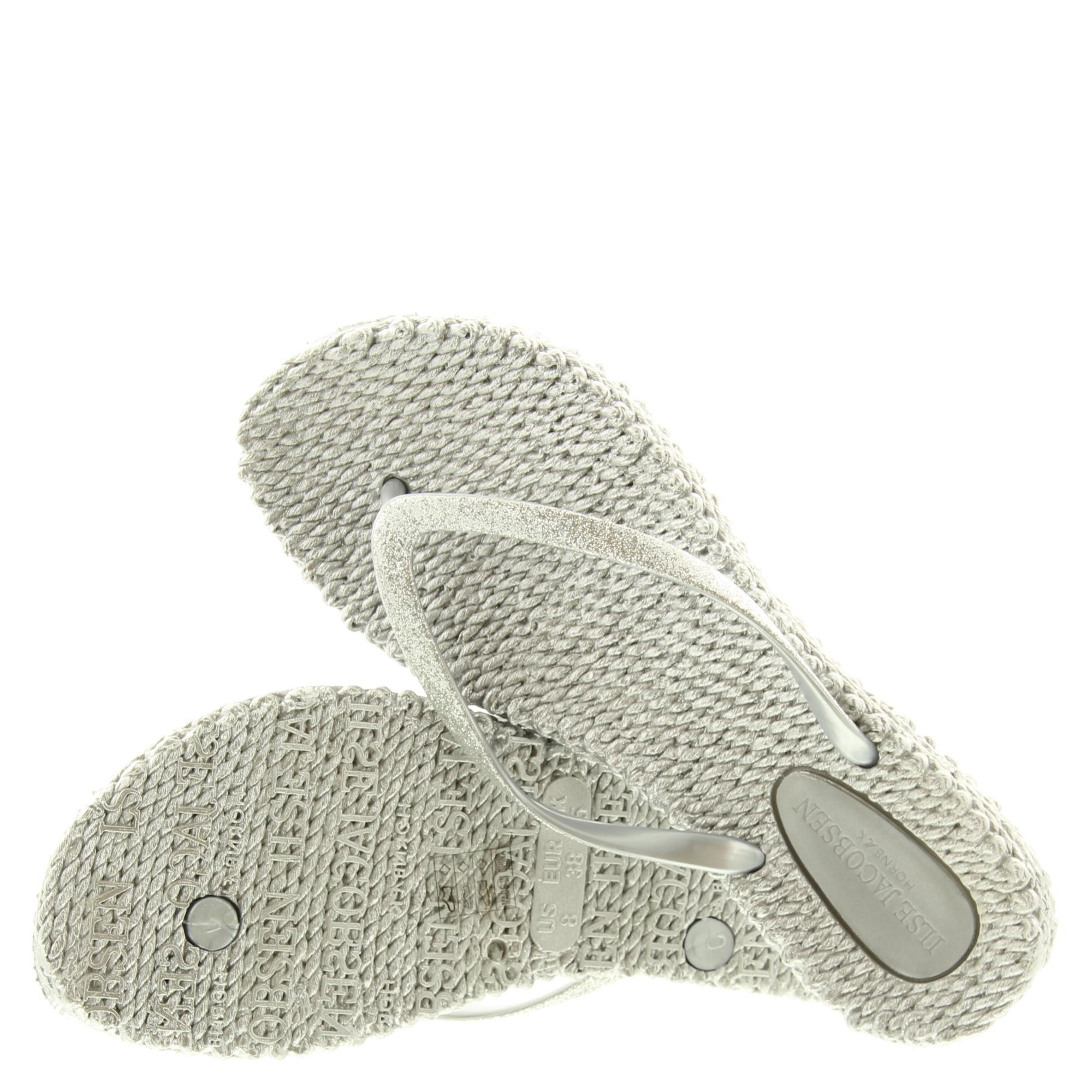 Ilse Jacobsen Fitflops Glitters Silver