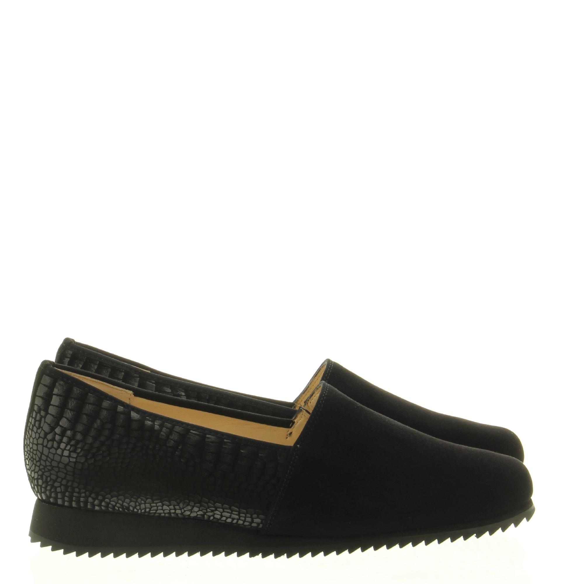Hassia Shoes 301683 Piacenza 0100 Schwarz Jungle