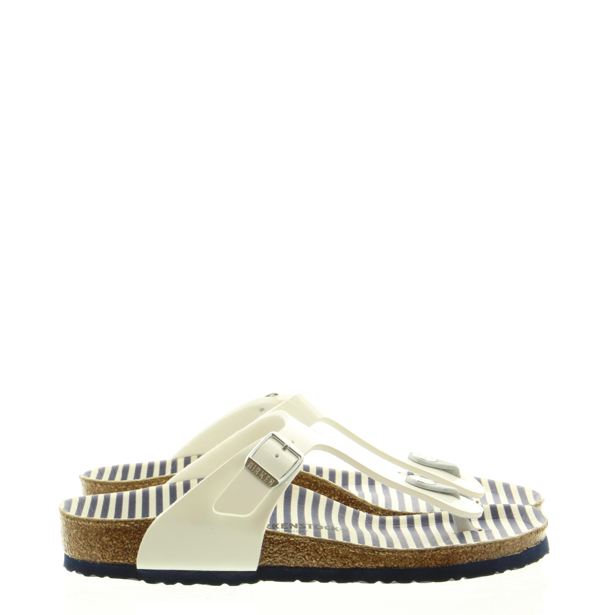 Birkenstock 1012724 Gizeh Nautical Stripes white