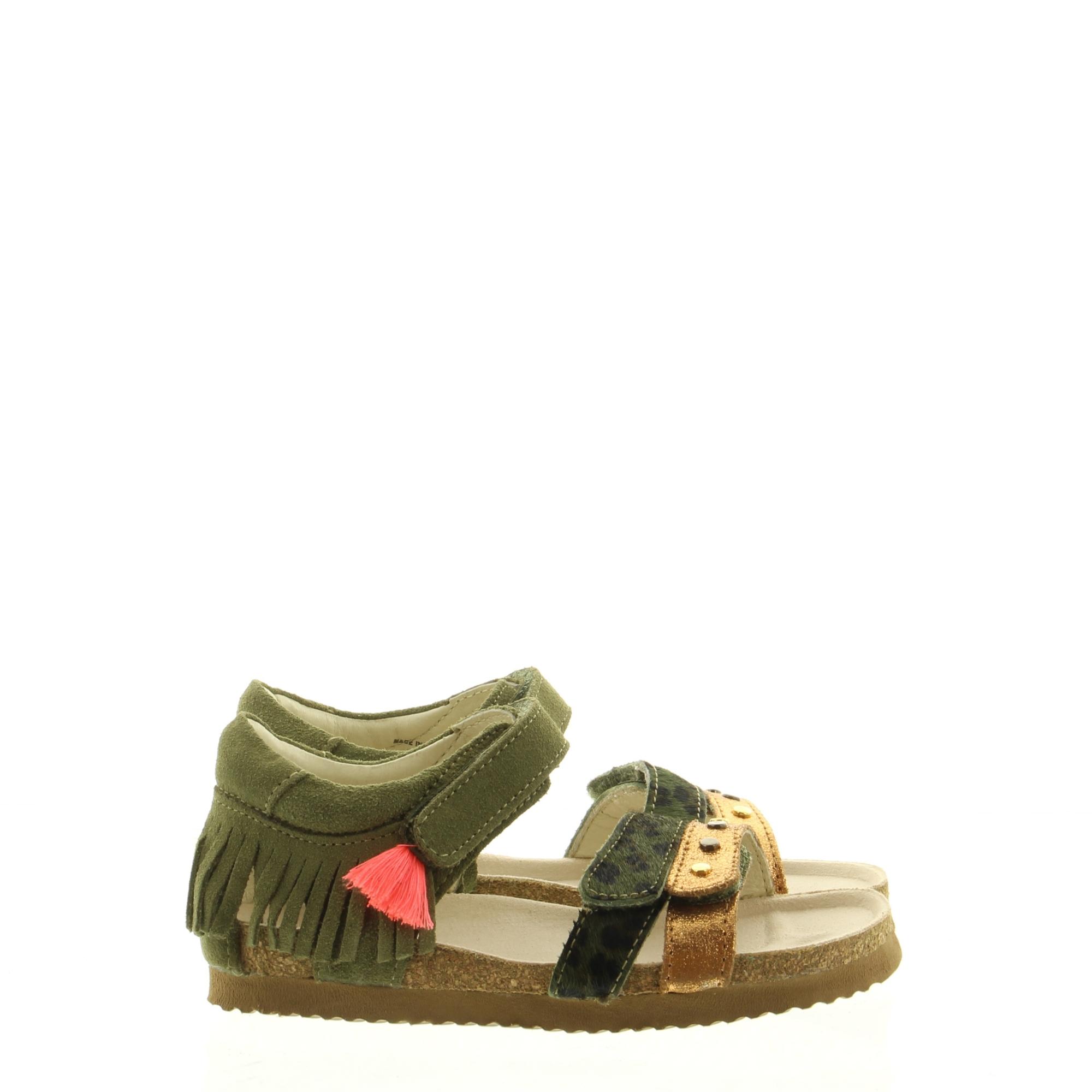 ShoesMe BI20S076-D Army-Ponyhair